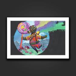 Pyro Water Color Fantasy Art Print